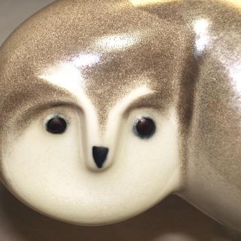 "Arabia Finland, Owl figurine""Lillemor Mannerheim""Vintage 1980's - Pottery"
