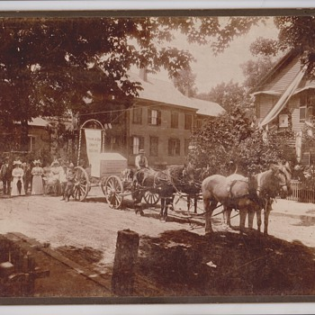 Horse Drawn Wagon Pulling Tombstone Cabinet Photo - Photographs
