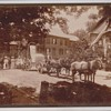 Horse Drawn Wagon Pulling Tombstone Cabinet Photo