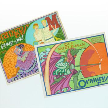 Orange crate labels, Vicente Ros (Spain, 1930s) - Advertising