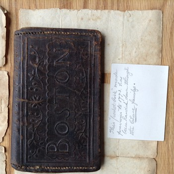 1773 leather wallet made in Boston containing letter written in 1812!