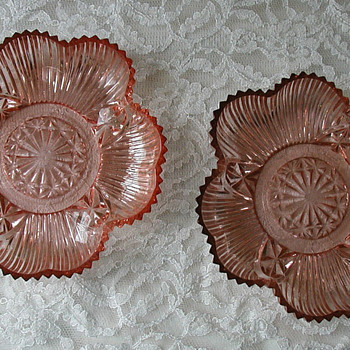 What is it? Depression glass candy bowls - Glassware