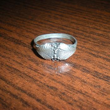 Art Nouveau silver ring. - Art Nouveau