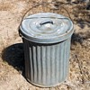 """Vintage Small Galvanized Trash Can 18"""" Tall"""