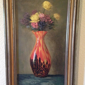 Painting - Kralik Vase - Art Glass