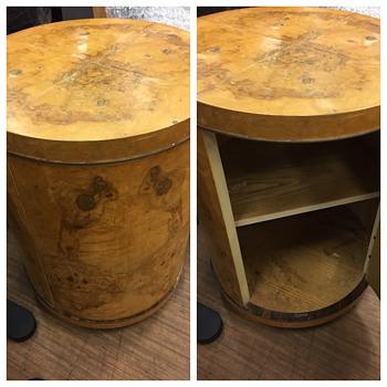 Bleached burl wood  Venere night stand - Furniture