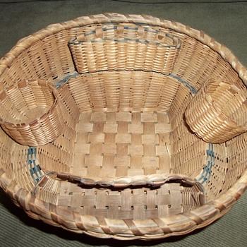 Native American Sewing Basket, 1910 - 1920 - Native American