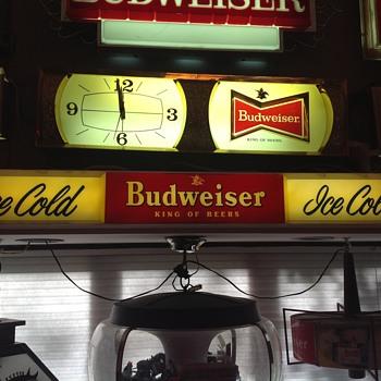 Budweiser sign - Breweriana