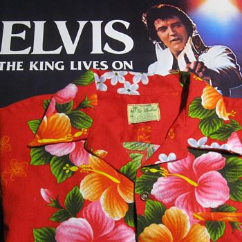ELVIS PRESLEY  .  .  . Personal Hawaiian Shirt - Music Memorabilia