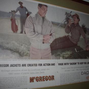 McGregor Golf Jacket Advertisement  - Advertising