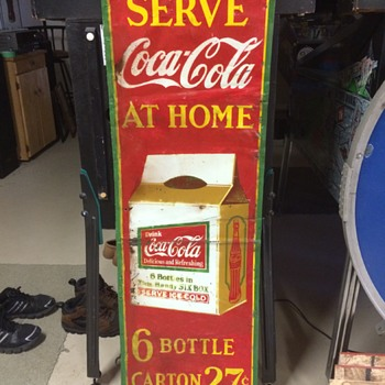 Rare Canadian Coca Cola 6-pack Sign