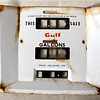 Gulf gas pump face