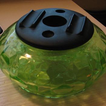 Vaseline Vanity jar?  - Glassware