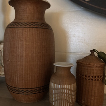 Early blanc de chine vase, but don't know other two - Asian