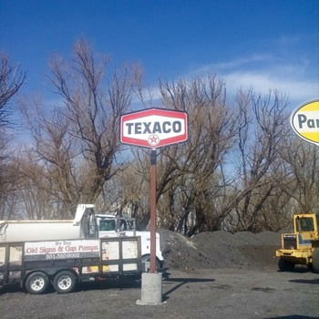 Texaco Gas Porcelain sign - Signs