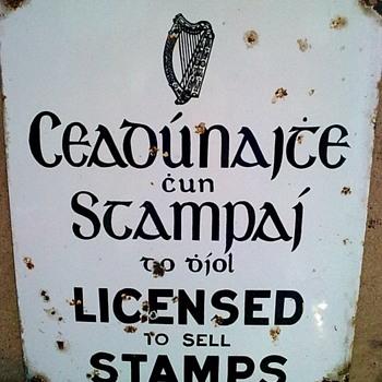 Stamp sign.