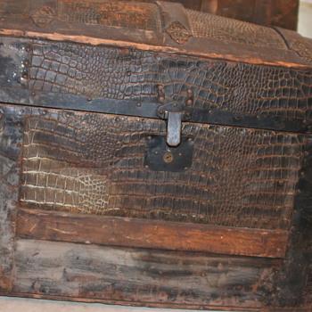 Metal Alligator Trunk - Help with ID - Furniture