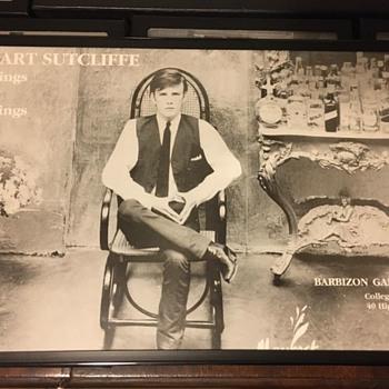 Stu Sutcliffe Exhibit poster-1990 - Music Memorabilia
