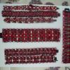 Signed Sherman Dark Siam Red, Japanned Back Rare Large Bracelet
