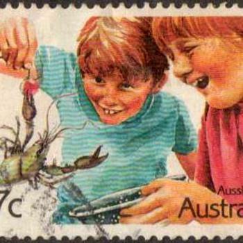 """1987 - Australia """"Aussie Kids"""" Postage Stamps - Stamps"""