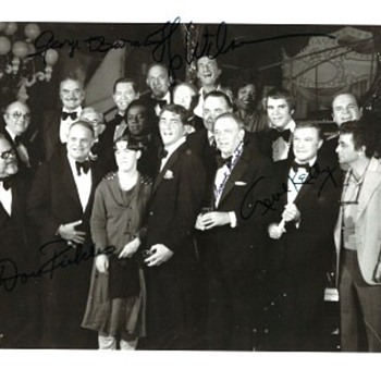 Group Photo from Deam Martin's Frank Sinatra Roast 1977 - Music Memorabilia