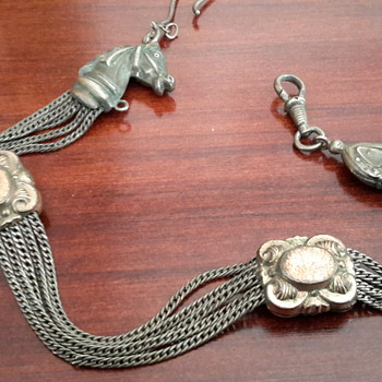Antique horse fob watch chain - Pocket Watches