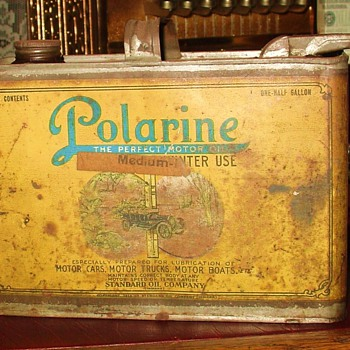 Polarine...One-Half Gallon Oil Can...Sept. 13, 1898...Standard Oil Company - Petroliana