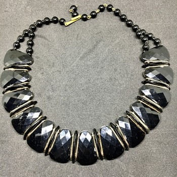 Black German necklace  - Costume Jewelry