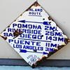 1913-1929 auto club blue diamond directional sign