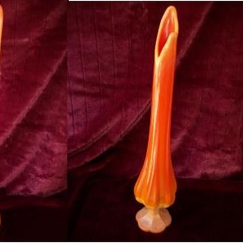 Orange Vases Murano? - Art Glass