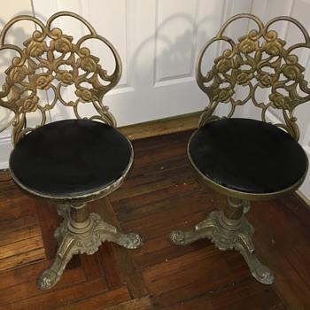 Soild brass chairs  - Furniture