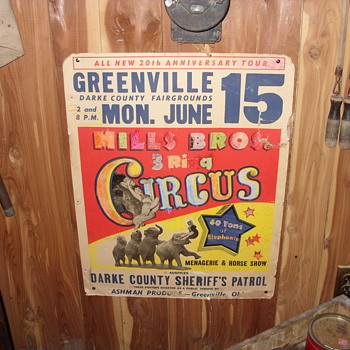 mills bros three ring circus poster - Posters and Prints