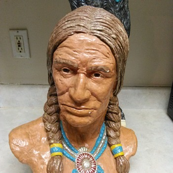 NATIVE AMERICAN  BUST - Fine Art
