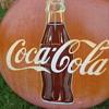 "Metal Tin 36"" Coca-Cola Coke Bottle Button Ball Die Cut Sign"