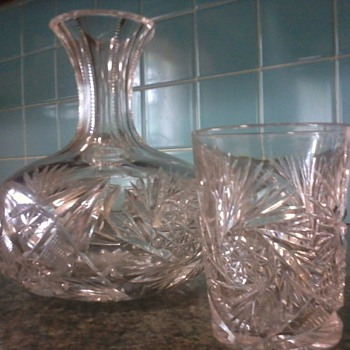 Decantur and glasses Late 1800s/Early 1900s - Glassware