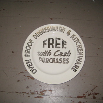 Advertisement for free Dinnerware - Advertising