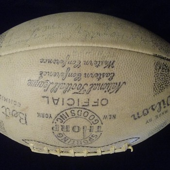 1949-1952 Chicago Bears Autographed Official NFL Football, Extremely Rare - Football