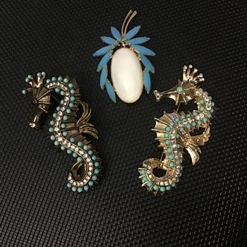Seahorses - Costume Jewelry