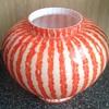 Welz striped rose bowl