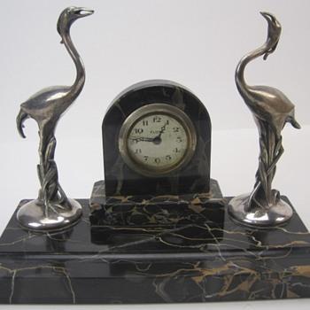 Florn Art Deco Flamingo Desk Clock, 1935 - 40 Germany