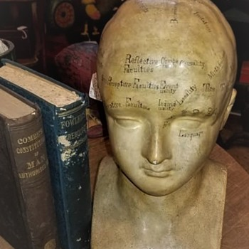 "Phrenologist ""Fowler's Bust,"" and further inscribed, ""Made and Sold by G.W. Twiss Practical Phrenologist"" - Victorian Era"