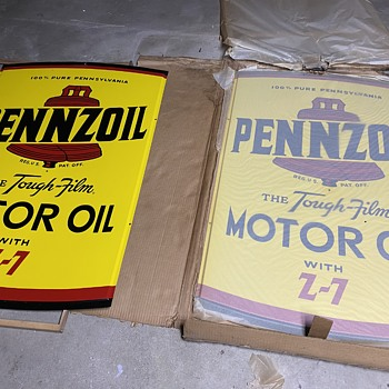 Pennzoil Tough Film Z-7.  AM-3/61   4ftx3ft - Petroliana