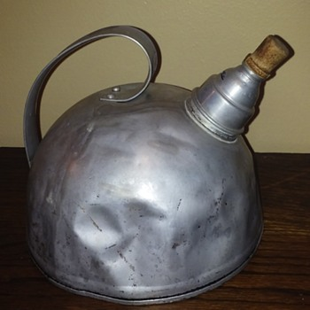 funky old aluminum whistling kettle - Kitchen
