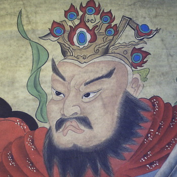 Chinese Scroll Painting, 1/3, GUAN YU, God Of War,Very Old, late 1800,early 1900 - Asian