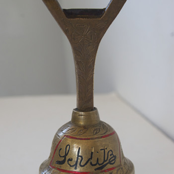 Old Schlitz Bottle Opener….with Bell! - Breweriana