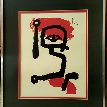 """The Drummer Boy"" print by Paul Klee - Mid-Century Modern"