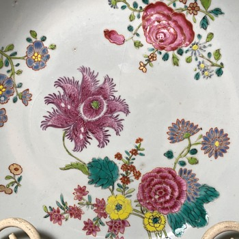 Qianlung - 18th C. Chinese Famille Rose Plate - Asian
