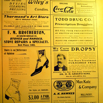 c. 1902 Sheet Music -  Coca-Cola Ad - Coca-Cola