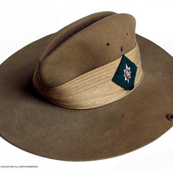 WW2 7th Battalion, Worcestershire Regiment Slouch hat