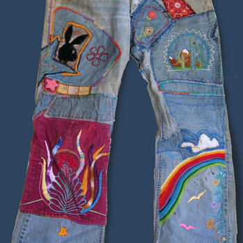 Meg from Florida's early 70s embroidered Hippie Folk Art Clothes